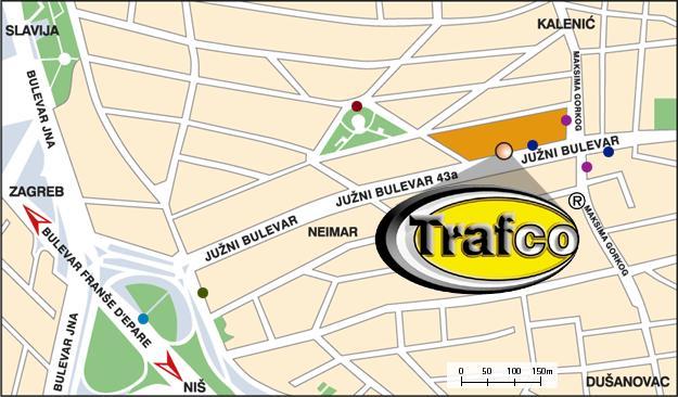 juzni bulevar 144 beograd mapa Trafco   Kontakt juzni bulevar 144 beograd mapa